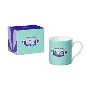 Hrnek z kostního porcelánu Yes studio Tired, 380 ml