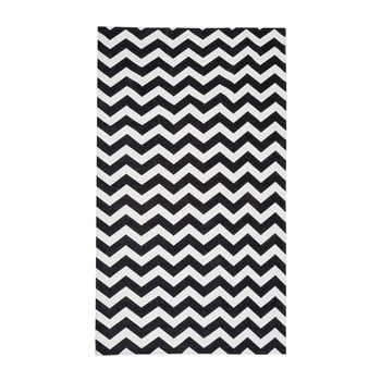 Traversă Floorita Optical, 80x130cm, alb-negru