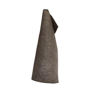 Černý lněný ručník Iris Hantverk Gåsöga, 50x70cm