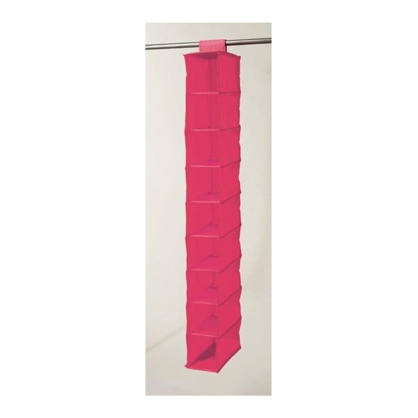 Růžový závěsný organizér s 9 přihrádkami Compactor Garment