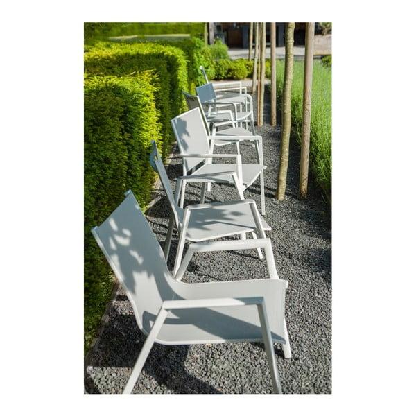 Bílá skládací zahradní jídelní židle Hartman Auba