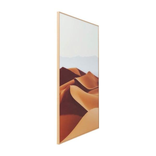 Tablou în ramă Kare Design Alu Desert Dunes, 80 x 120 cm