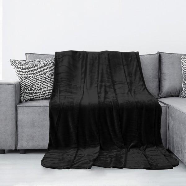 Pătură din microfibră AmeliaHome Tyler, 170 x 200 cm, negru