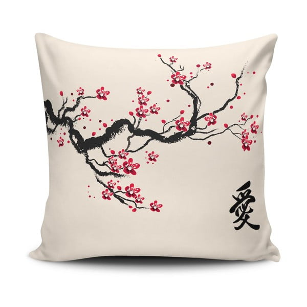 Povlak na polštář s příměsí bavlny Cushion Love Branch, 45 x 45 cm