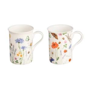 Sada 2 hrnků s motivem květin z porcelánu Price & Kensington Hedgerow,300ml