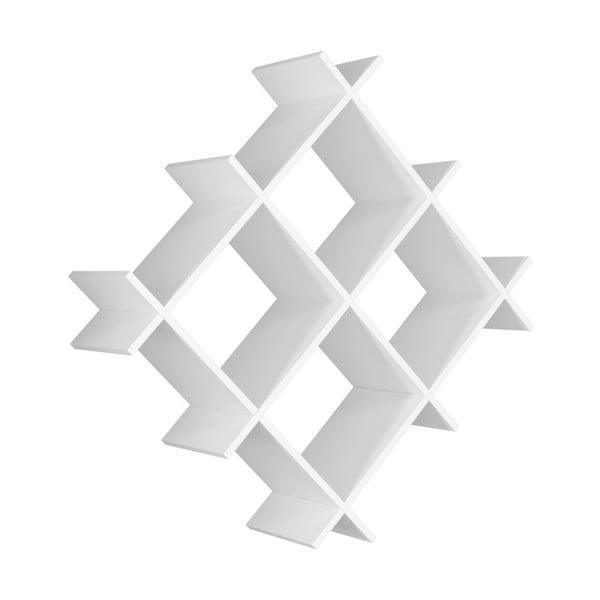 Bílá nástěnná police Farley, šířka 75 cm
