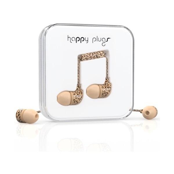 Sluchátka s nástavci Happy Plugs Leopard