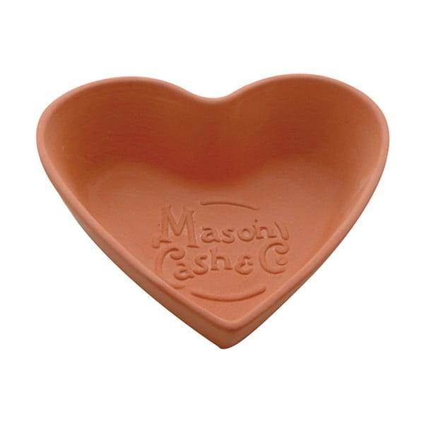Terakotová mísa Heart, 15 cm