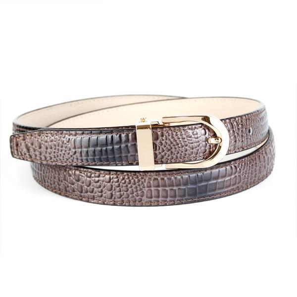 Dámský kožený pásek 4379C Grey, 90 cm
