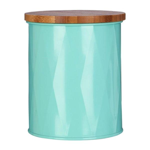Malá tyrkysová dóza s bambusovým víčkem Premier Housewares Canister