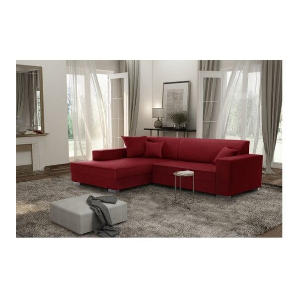 Červená sedačka Interieur De Famille Paris Perle, levý roh