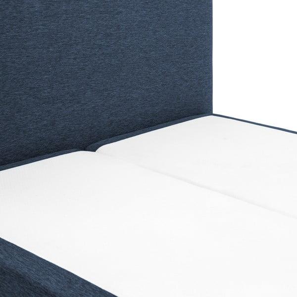 Tmavě modrá boxspring postel Vivonita Lando, 180x200cm