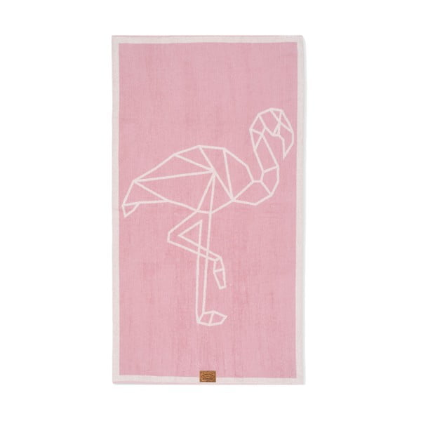 Osuška Hawke&Thorn Flamingo, 90x160 cm