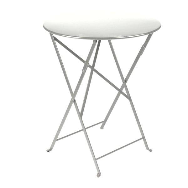 Světle šedý skládací kovový stůl Fermob Bistro