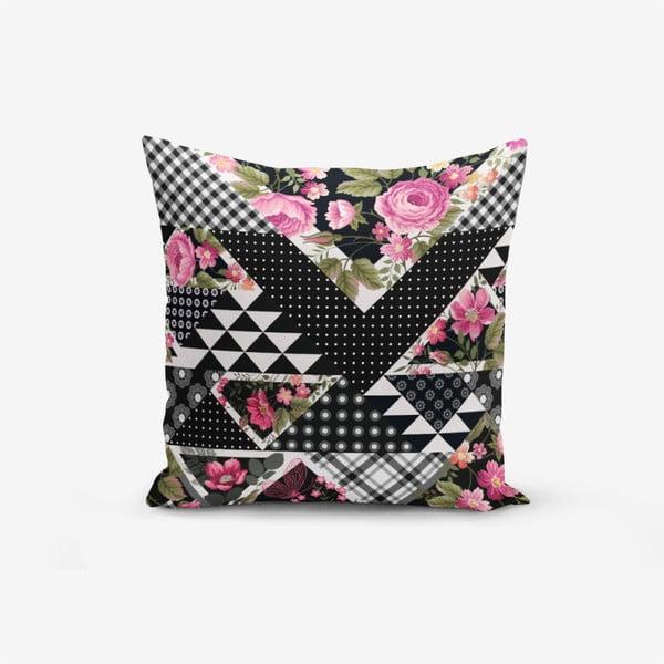 Față de pernă cu amestec din bumbac Minimalist Cushion Covers Karma Flower Geometric Desenter Modern, 45 x 45 cm