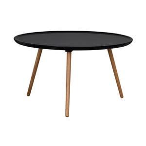 Černý konferenční stolek Folke Dellingr, ⌀ 80cm