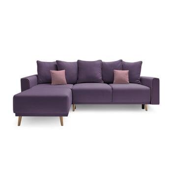 Canapea cu șezlong pe partea stângă Bobochic Candy mov