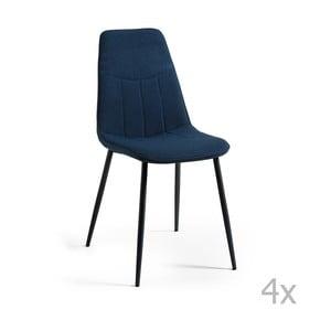 Sada 4 tmavě modrých jídelních židlí La Forma Trecs