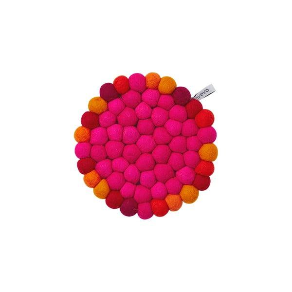 Vlněná podložka Trivet Cerise/Multi, 17 cm