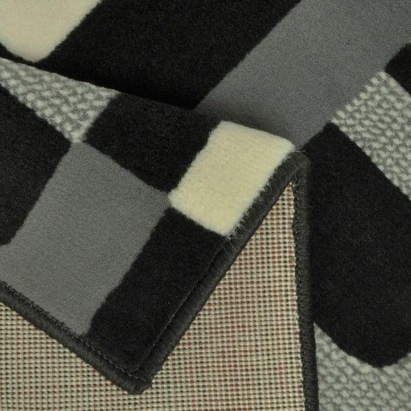 Černý koberec Hanse Home Hamla Retro, 80x150cm