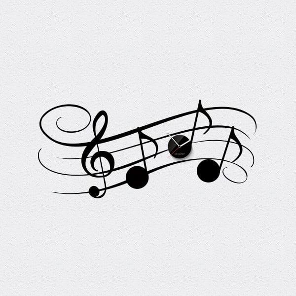 Hodiny se samolepkou Symphony, černá