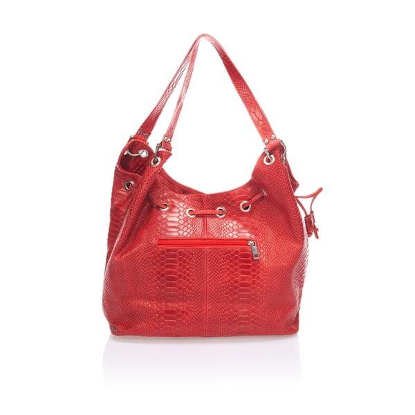 Kožená kabelka Divisa, červená