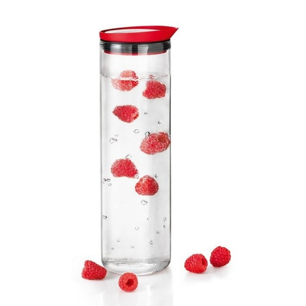 Karafa na vodu 1l, červená