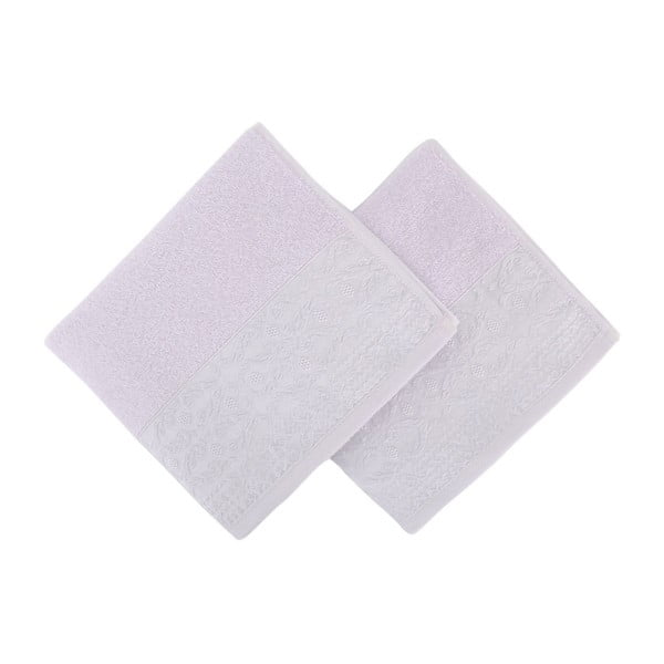 Sada 2 světle fialových ručníků z čisté bavlny Handy, 50 x 90 cm