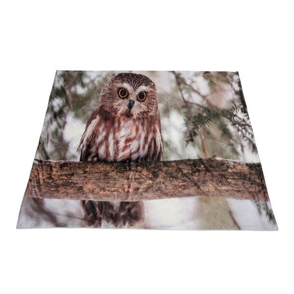 Pléd J-line Owl Velvet, 140x160 cm