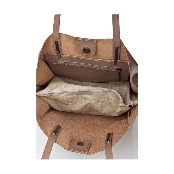Kožená kabelka Giorgio Costa 15015 Taupe