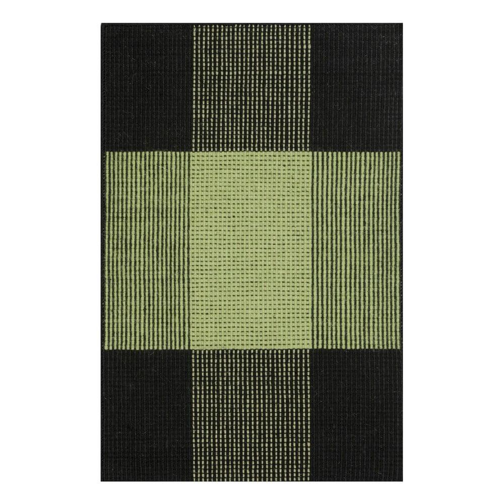 Zelený ručně tkaný vlněný koberec Linie Design Bologna, 250 x 350 cm