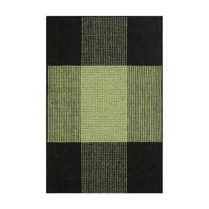 Zelený ručně tkaný vlněný koberec Linie Design Bologna, 140x200cm
