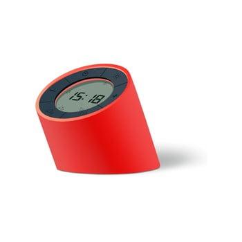 Ceas deșteptător cu LED Ginko Edge, roșu
