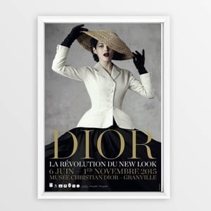 Plakát v rámu Piacenza Art Dior With Hat, 30x20cm