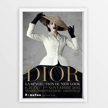 Tablou cu ramă Piacenza Art Dior With Hat, 23 x 33 cm