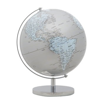 Glob decorativ Mauro Ferretti Mappamondo Silver, ⌀ 25 cm imagine