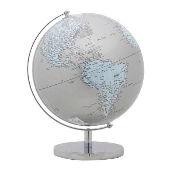 Dekorativní globus Mauro Ferretti Mappamondo Silver, ⌀ 25 cm