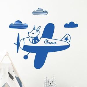Nástěnná samolepka se jménem Ambiance Puppy On The Plane