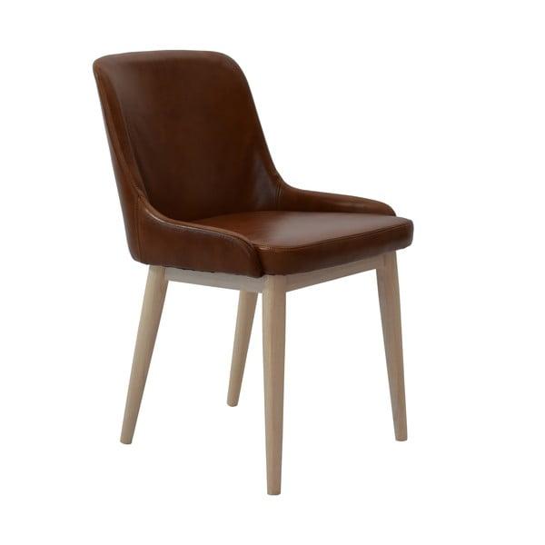 Sada 2 jídelních židlí Edgar, hnědé
