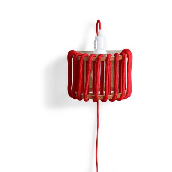 Aplică din lemn EMKO Macaron, lungime 20 cm, roșu