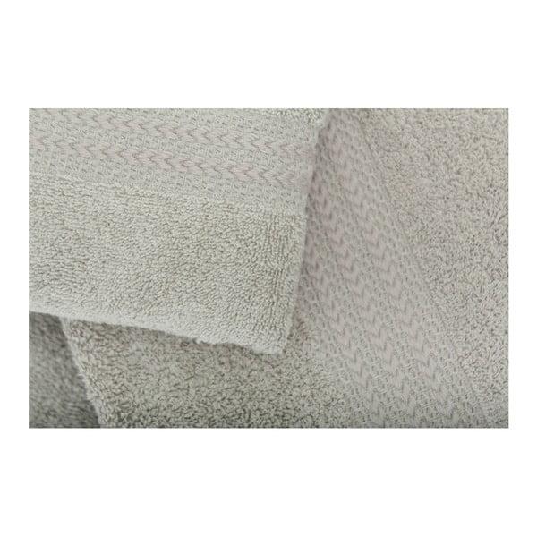 Set 2 šedých bavlněných ručníků a osušky Rainbow