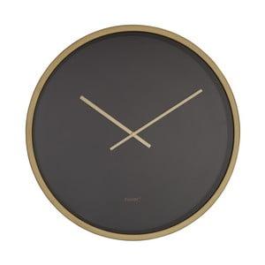 Ceas de perete Zuiver Time Bandit, negru - alămiu