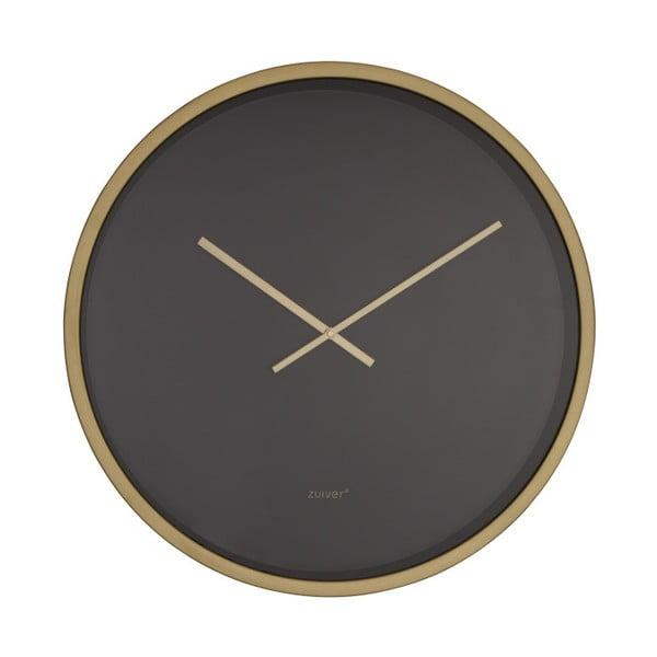 Černo-mosazné nástěnné hodiny Zuiver Time Bandit