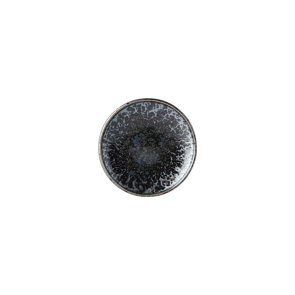 Černo-šedý keramický talíř MIJ Pearl, ø 17 cm