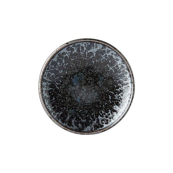 Czarno-szary talerz ceramiczny MIJ Pearl, ø 17 cm