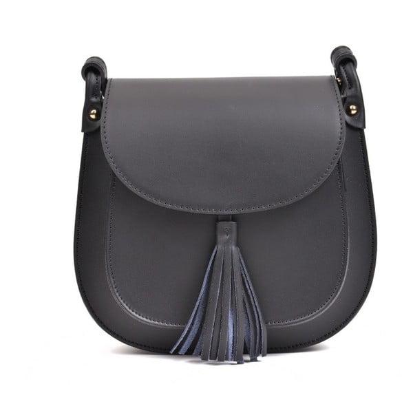 Černá kožená kabelka AnnaLuchini Abbie