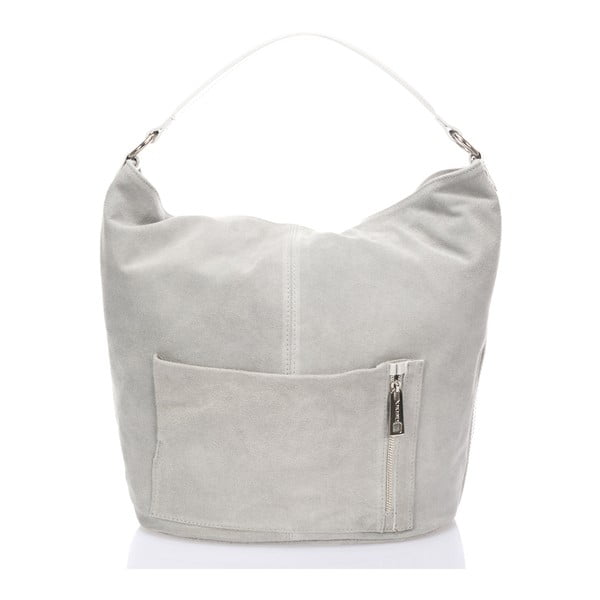 Kožená kabelka Lucinda, šedá