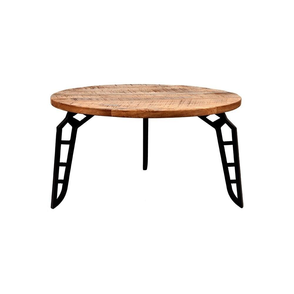 Odkládací stolek s deskou z mangového dřeva LABEL51 Flintstone, ⌀ 80 cm