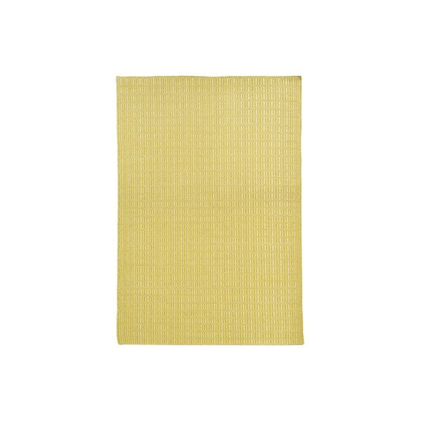 Ručně tkaný koberec Yellow Retro Kilim, 152x208 cm