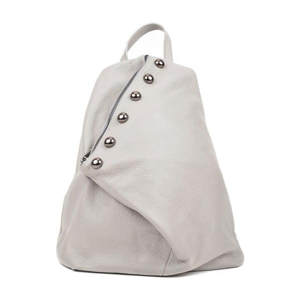 Sivý dámsky kožený batoh Luisa Vannini Cole